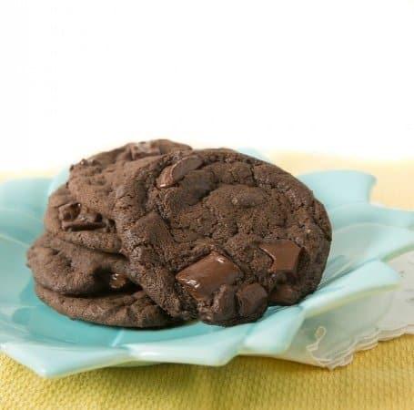 Gourmet Double Chocolate Chunk Cookies