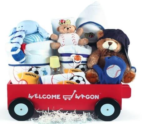 Deluxe Baby Boy Welcome Wagon