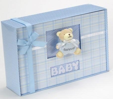 Baby Boy Forever Photo Album Gift Set