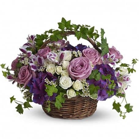 Sympathy Flower Basket