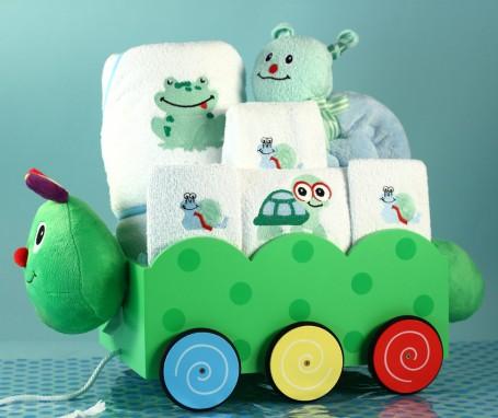 Baby Boy Caterpillar Wagon Gift Set