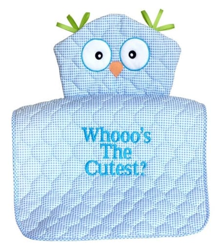 Baby Boy Whooo's the Cutest Owl Changing Mat Gift