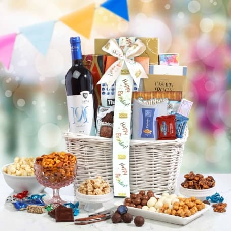 Happy Birthday Wine Basket