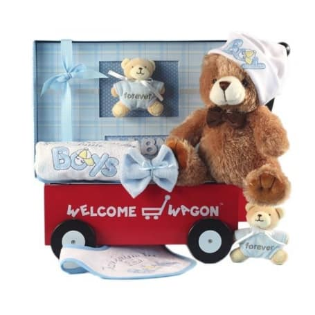 Baby Boy Welcome Wagon Gift Set
