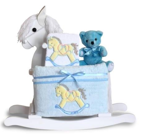 Baby Boy Classic Rocking Horse Gift Set