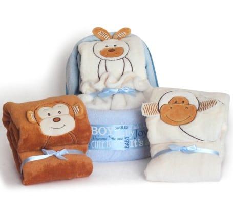 Baby Boy Diaper Plush Cradle Gift Set