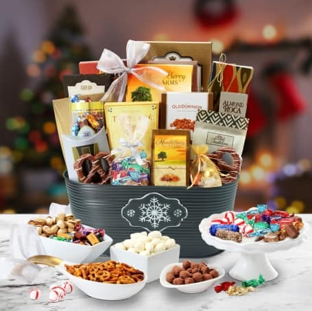 Winter Wonderland Holidays Snack Gift Basket