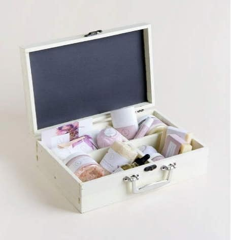Classic Spa Set In A Wooden Box - Lavender