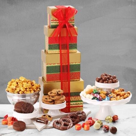 Mistletoe Memories Holiday Gift Tower