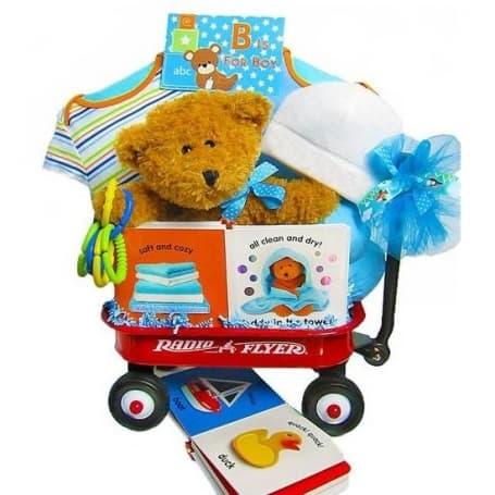 Boy Baby Radio Flyer Wagon