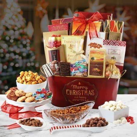 Merry Christmas Holiday Gift Basket