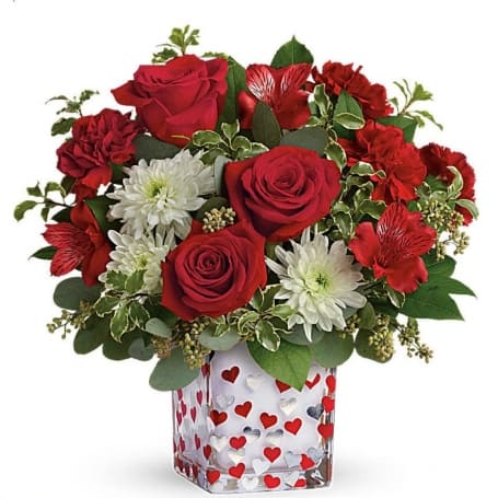 Shining Heart Valentines Day Bouquet