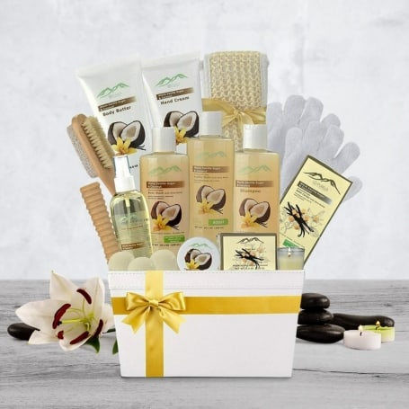 Warm Vanilla Spa Basket