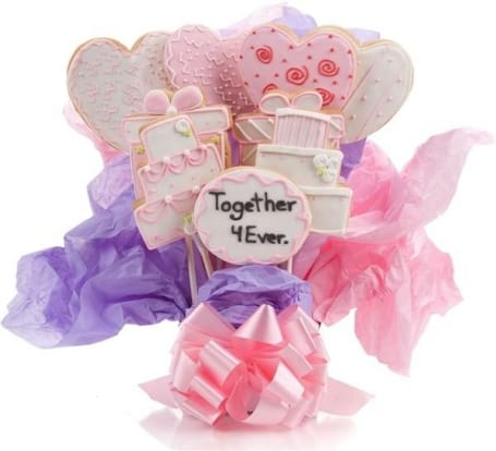Whimsical Wedding Cookie Bouquet
