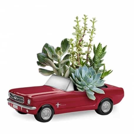 '65 Ford Mustang Flower Vase Collectible