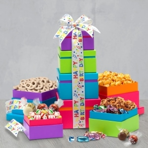 Happy Birthday Wishes - Gift Tower