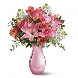 Flowers for delivery order flower gifts online broadway basketeers pink flower bouquet pink and red flower arrangements mightylinksfo