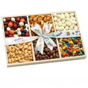 Happy Birthday Nut Gift Tray