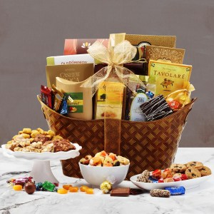 classic favorites holiday gift basket - Christmas Basket Decoration Ideas