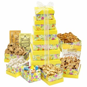 Fresh And Floral Snack Attach Gift Tower