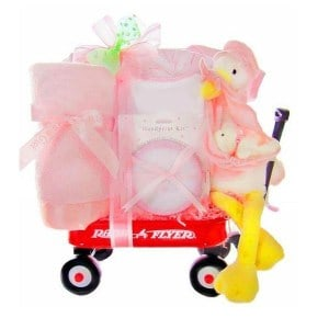 cf4fcc04bfb7 Red Wagon Baby Girl Gift Basket