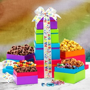 Happy Birthday Wishes Gift Tower Economy Shipping
