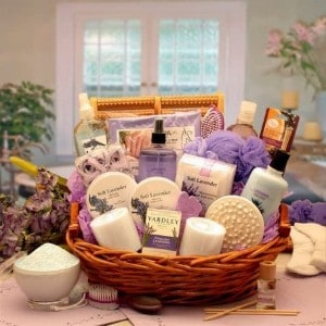 The Essence of Lavender Spa Gift Basket & Spa Gift Baskets | Luxury Bath u0026 Body Spa Gift Delivery for Her