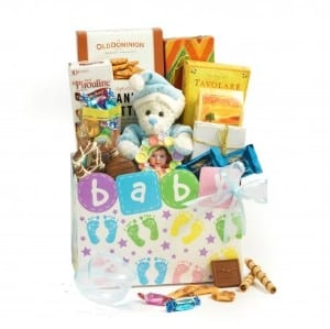 Baby gift baskets for boy girl baby gift tower broadway basketeers baby boy gift basket negle Image collections