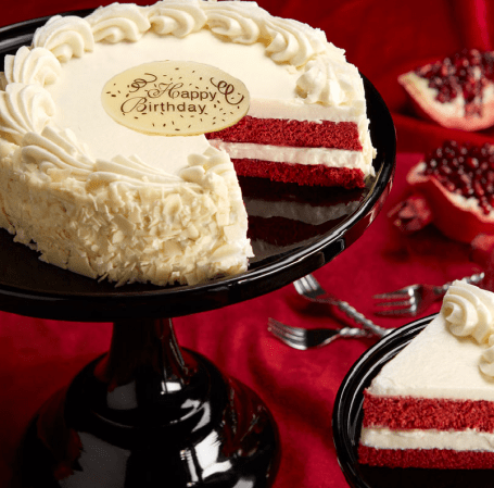 Red Velvet Chocolate And Cream Cheese Frosting Birthday Cake