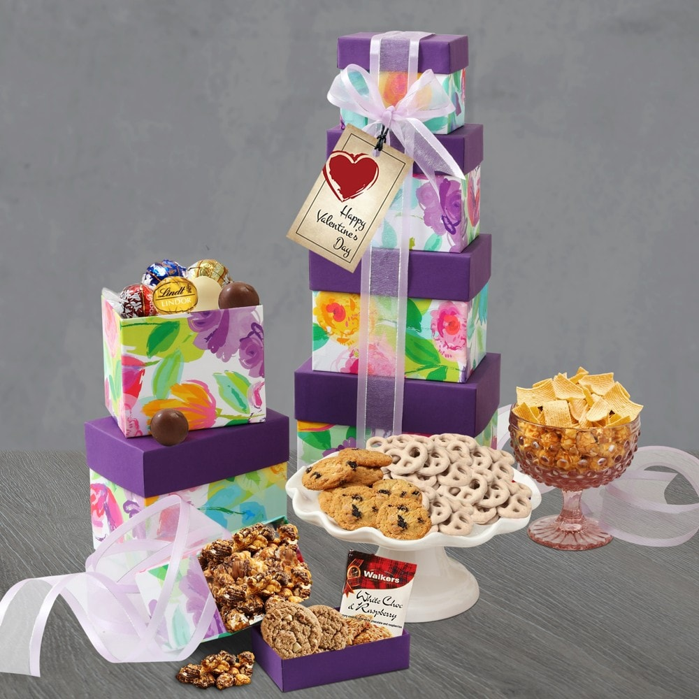 Valentine Day Sweets Gift Tower