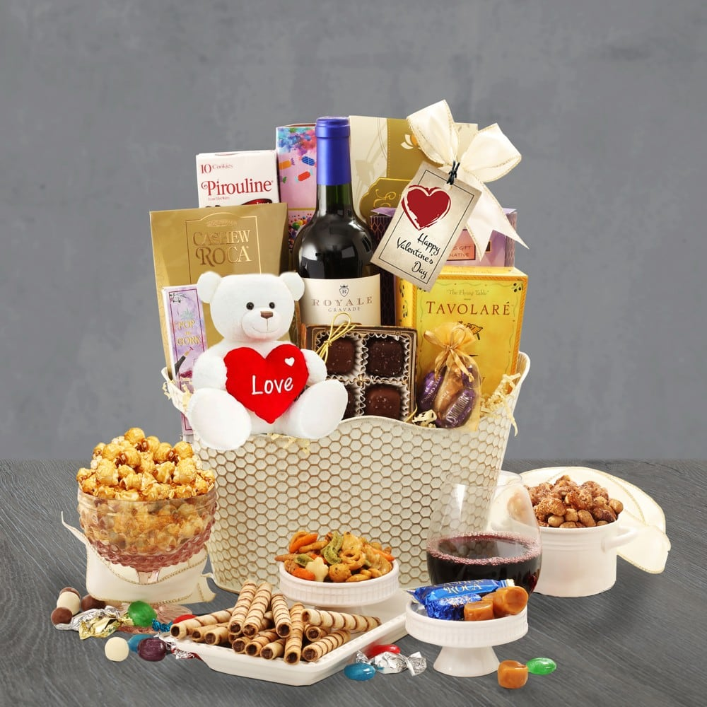 Valentines Day Wine Basket