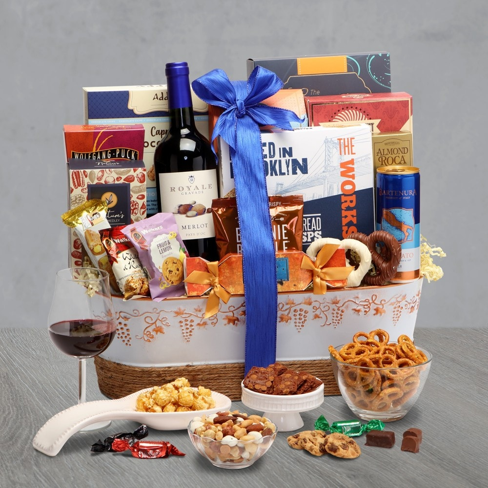 Royal Wine Gift Basket