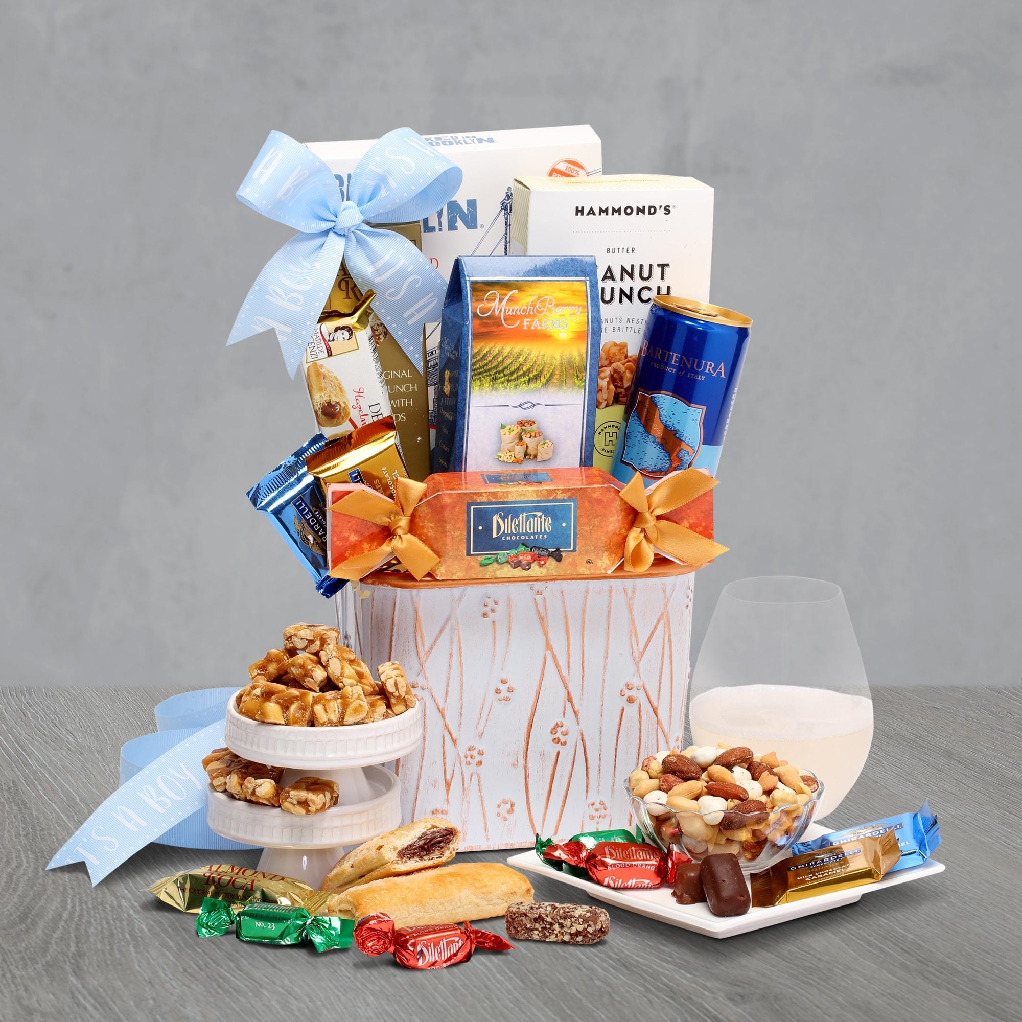 Baby Boy Moscato Gift Basket